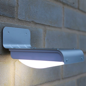Solar Powered LED Motion Sensor Security Lamp - Silver