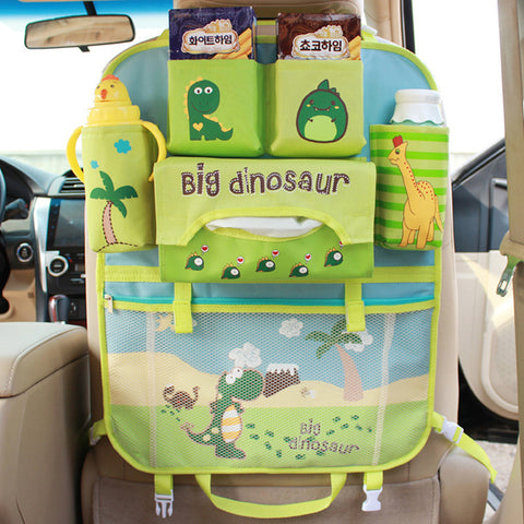 Image of Cartoon Car Seat Back Organizer Protector Cover