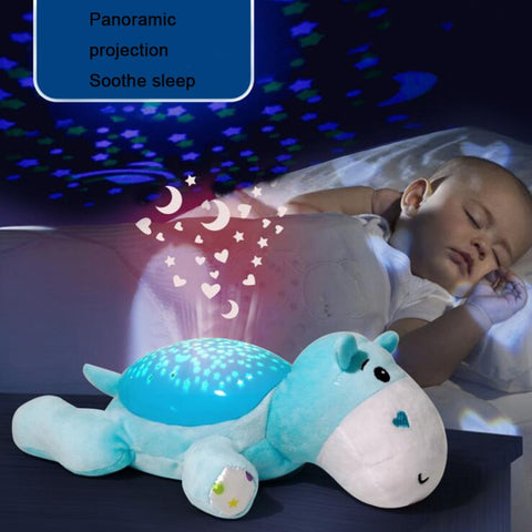 Image of Cute Plush Animal Starry Sky Projector with Music