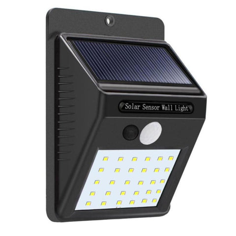 Image of Wireless Solar Powered LED Motion Sensor Security Light Waterproof - Brown