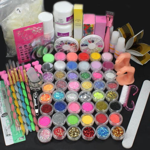 Acrylic Liquid Nail Kit with Glitter Powder For Nails Extensions
