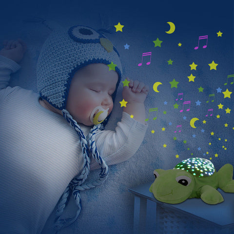 Cute Plush Animal Starry Sky Projector with Music
