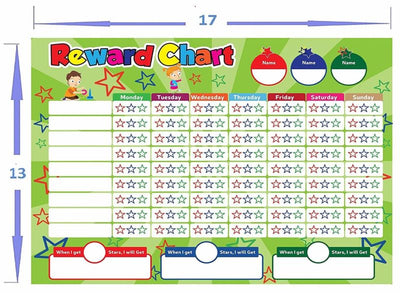 Kids Magnetic Dry Erase Chore Chart