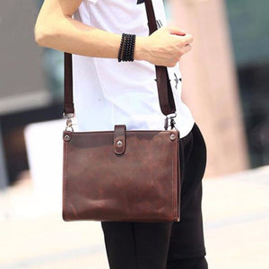 Sleek Modern Leather Shoulder Messenger Bag