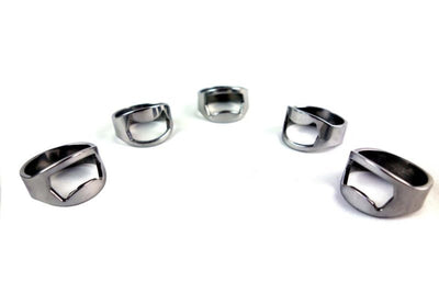Stainless Steel Finger Ring Bottle Opener - 5pcs