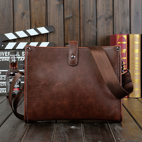 Image of Sleek Modern Leather Shoulder Messenger Bag