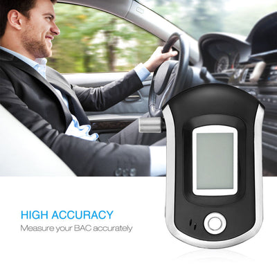 Highly Sensitive Digital Breathalyzer - Accurate Alcohol Tester
