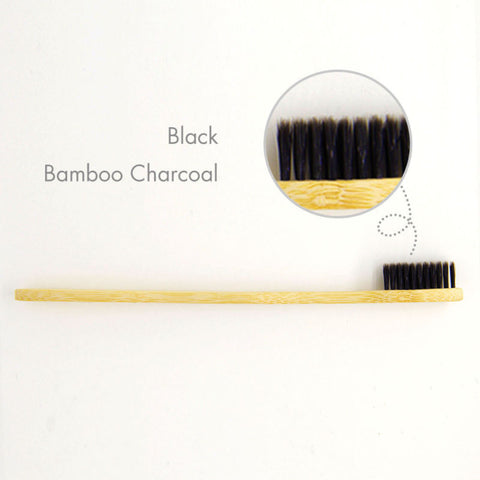 Image of Bamboo Medium Toothbrush Eco-Friendly (8 Pack)
