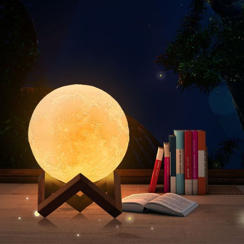 Image of 3D Luminescent Moon Lamp