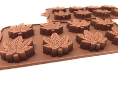 Marijuana Leaf Silicone Edible Mold Trays - 2 Pack
