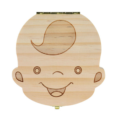 Wood Baby Tooth Box Organizer - Keepsake