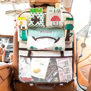 Cartoon Car Seat Back Organizer Protector Cover