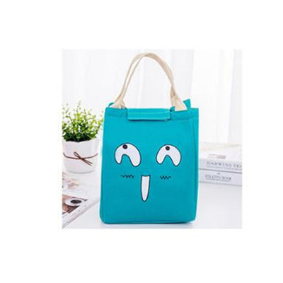 Funny Face Waterproof Oxford Thermal Lunch Bag