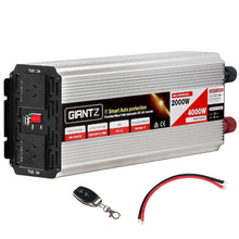 Load image into Gallery viewer, Giantz 2000W Puresine Wave DC-AC Power Inverter