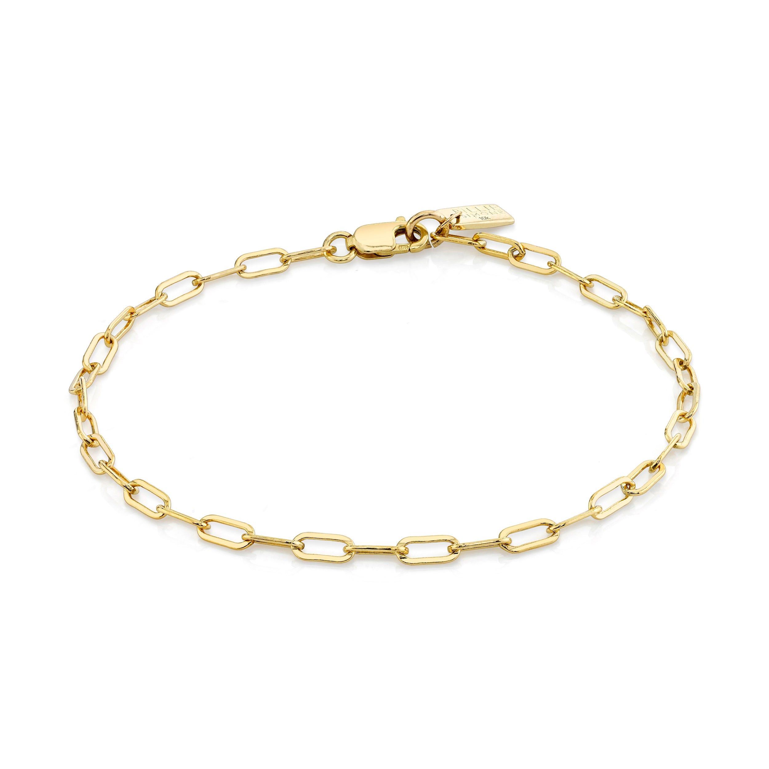 Mini Elongated Oval Link Bracelet