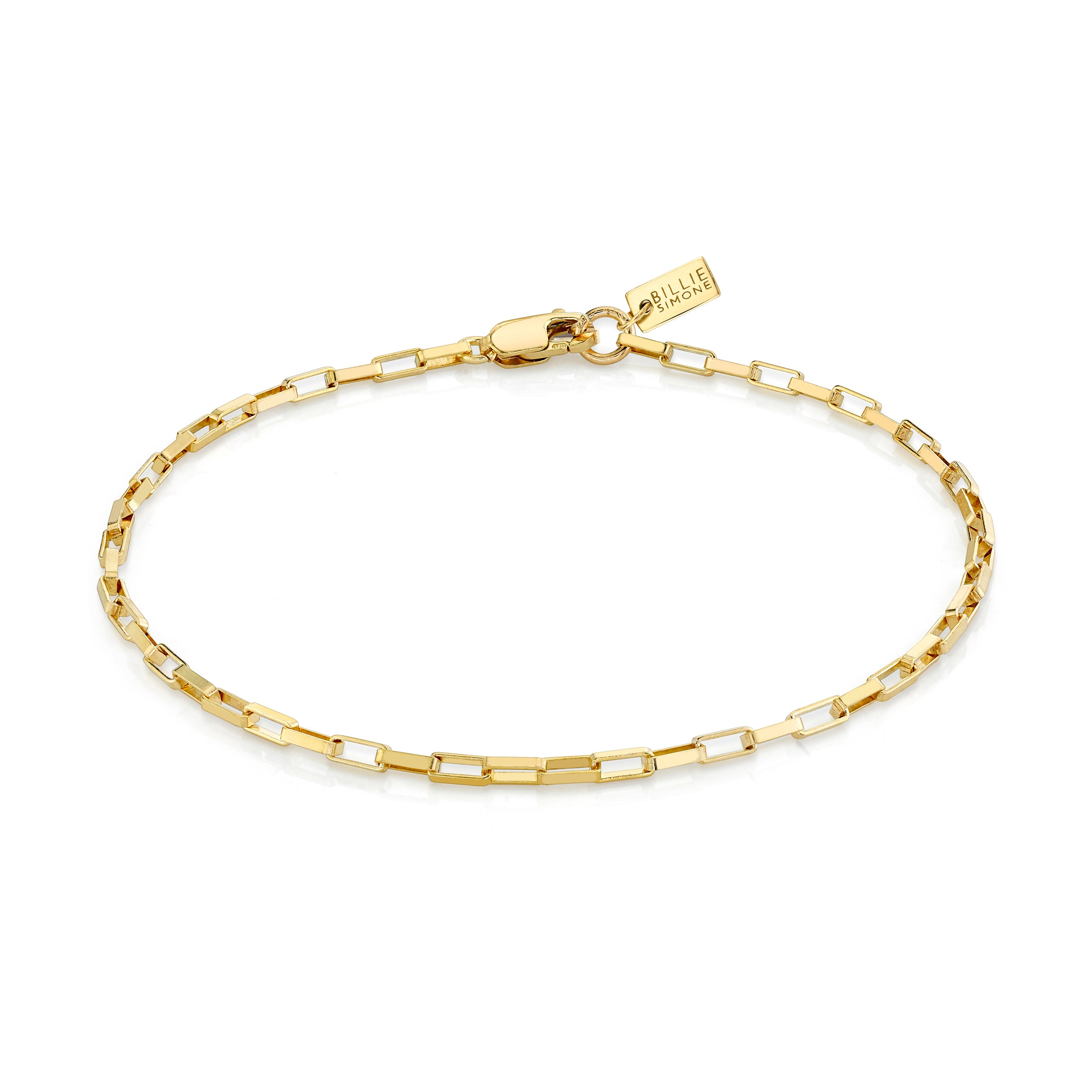 Mini Elongated Box Link Bracelet