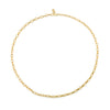 Oval & Round Alternating Link Necklace