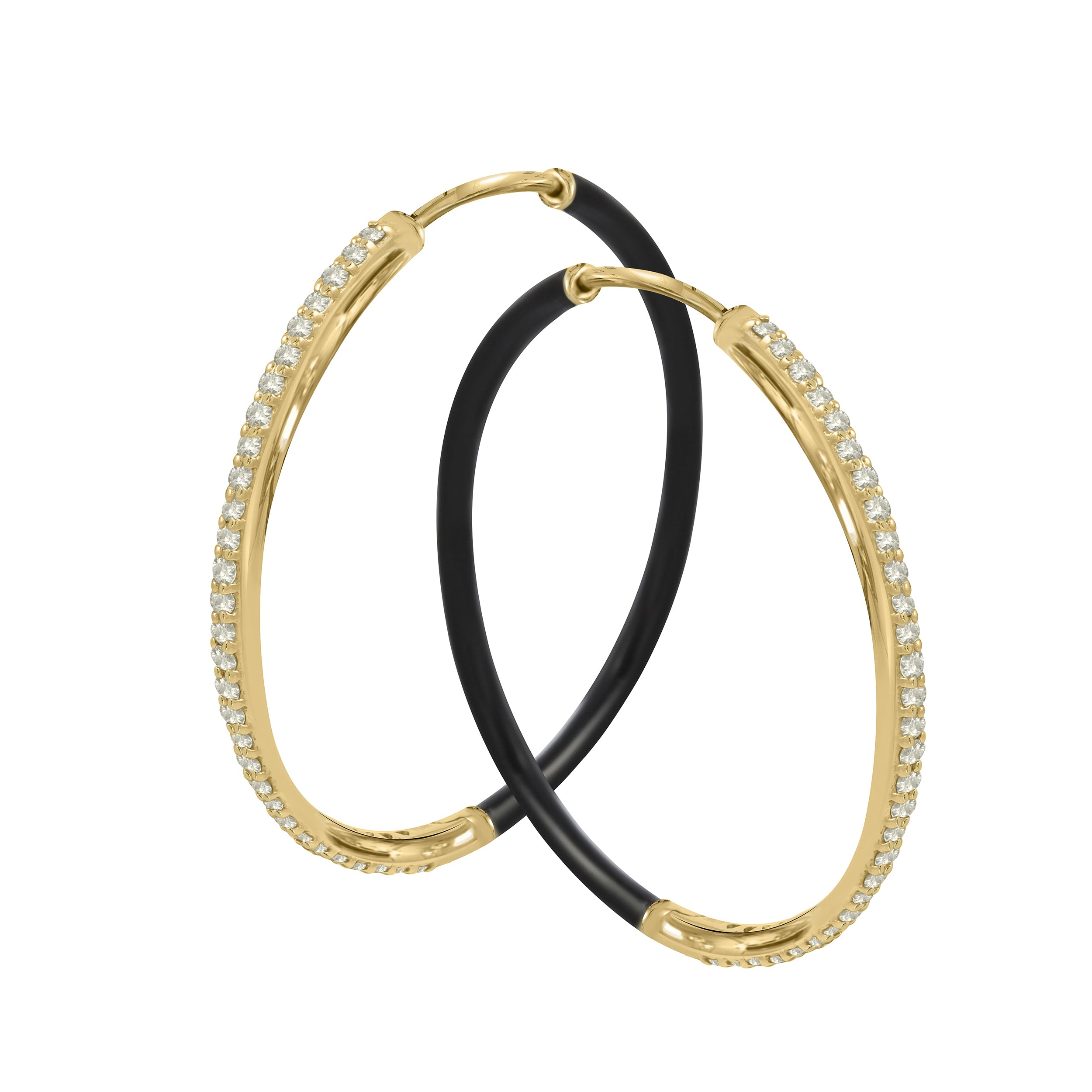 Even-Steven Diamond Hoops