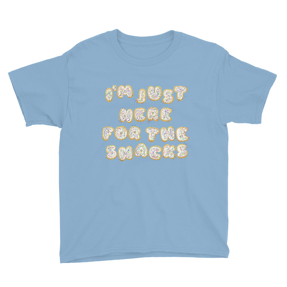 I'm Just Here for the Snacks YOUTH Shirt