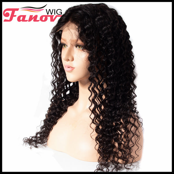 Fanov Wig Deep Wave Hair Human Hair Wigs Full Lace Wigs - Fanov Wigs