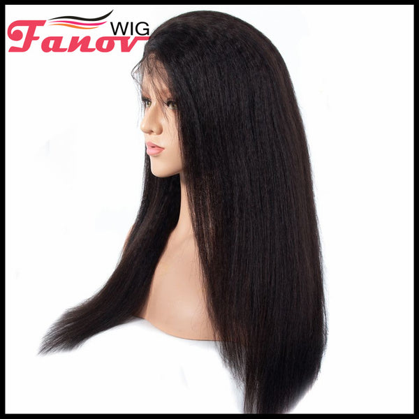 Fanov Wig Kinky Straight Hair Human Hair Wigs 13×6 Lace Front Wigs - Fanov Wigs