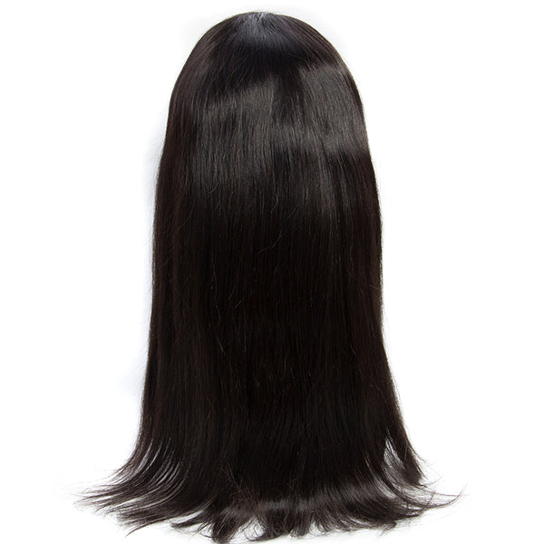 Fanov Wig Straight Remy Hair 4×4 Lace Front Human Hair Wigs For Women Natural Black - Fanov Wigs