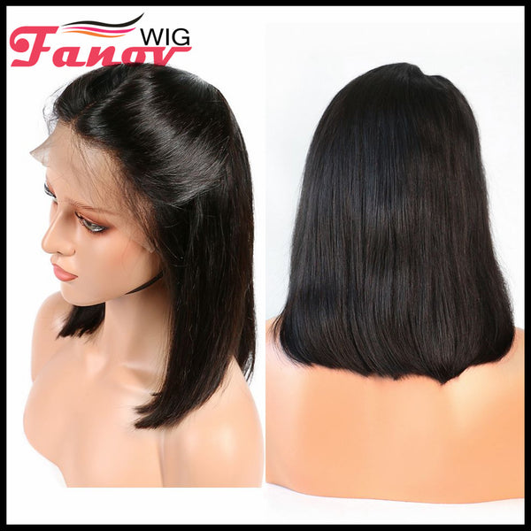 Fanov Wig Pre Plucked Straight Short Bob Human Hair Wigs 13×4 Lace Front Wigs - Fanov Wigs