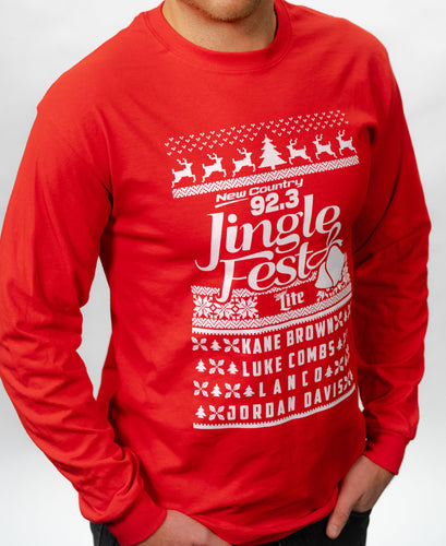 Long Sleeved JingleFest 2018 Red Shirts