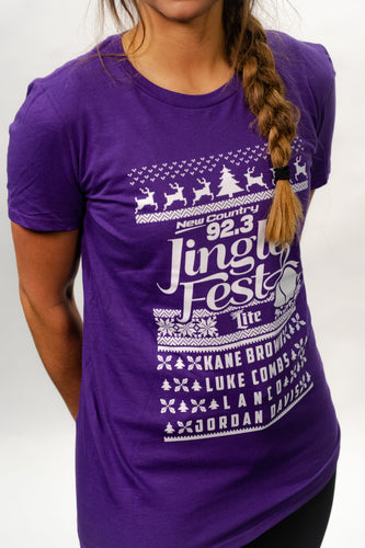 Short Sleeved JingleFest 2018 Purple Shirts
