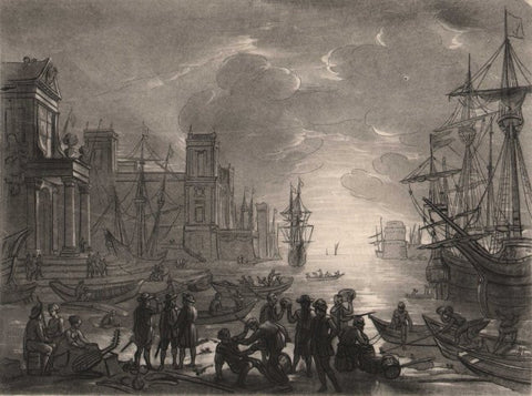 """A Sea Port"" by Claude Lorrain"