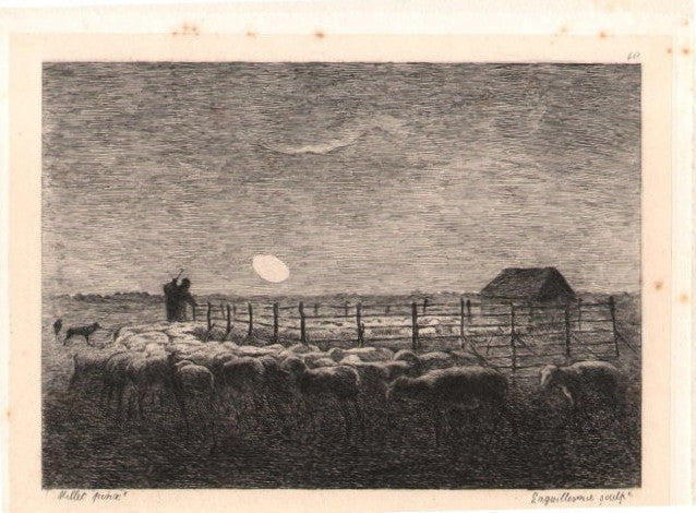 Etching after Millet