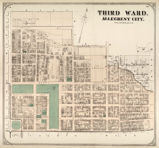Hopkins' Map of Allegheny City's Third Ward, 1872