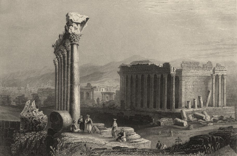 Ruins of Balbec, a store-city of Solomon by Bartlett, circa 1836