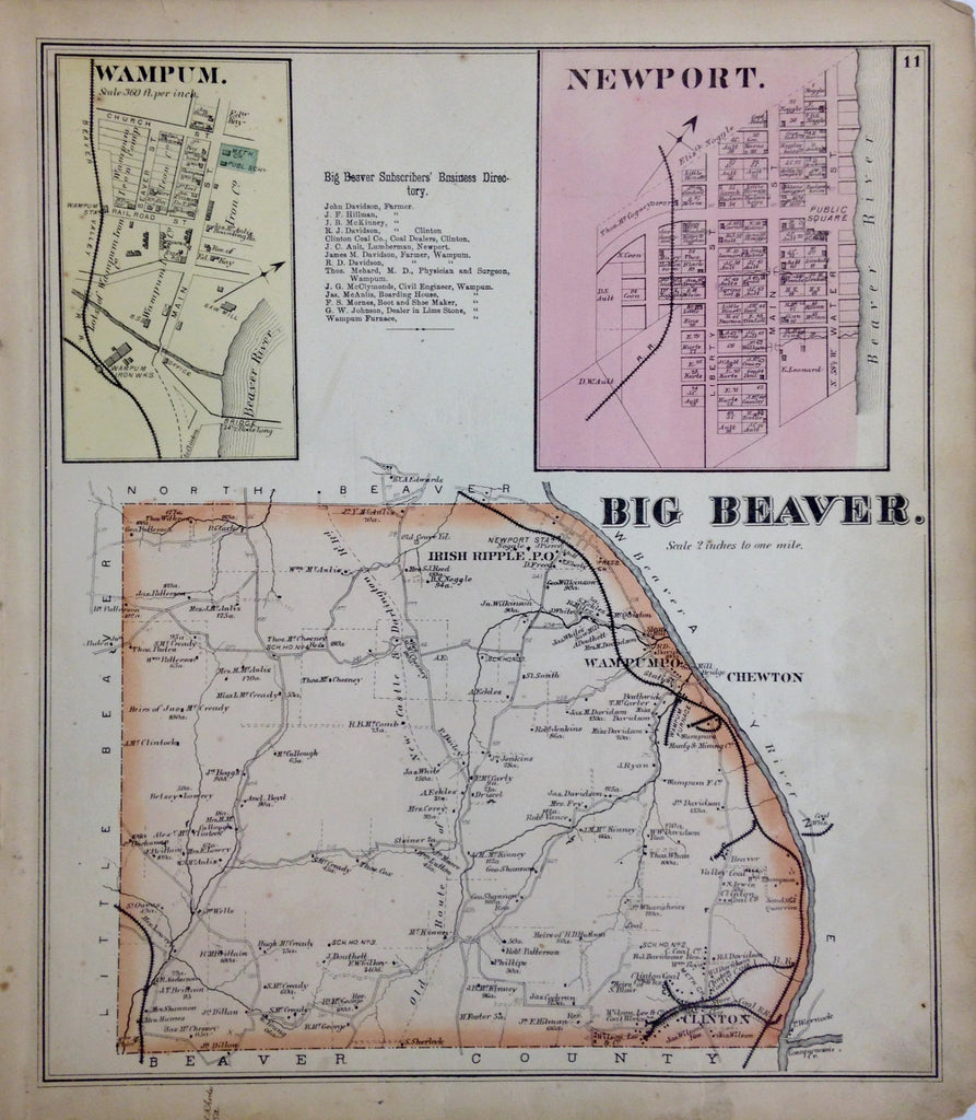 Big Beaver Township, 1872, Hopkins