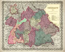 Map of Germany No. 3, Colton, 1855