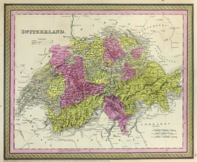 Switzerland, 1850, Mitchell and Cowperthwait