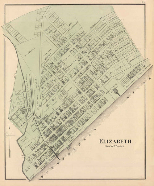 Hopkins' Map of Elizabeth and Forward, 1876