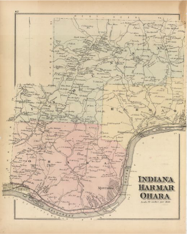 East Deer, Springdale, Indiana, Harmar and O'Hara, 1876, Hopkins