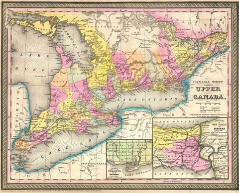 Map Of Canada In 1850.Shawgalleries Tagged 1850s Shaw Galleries