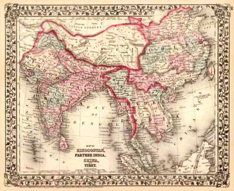 Map of Asia, 1877, Mitchell