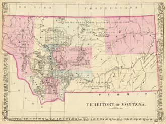 Map of Territory of Montana, Mitchell, 1880