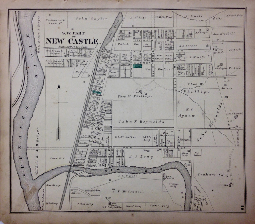 New Castle (Southwest Part), 1872, Hopkins