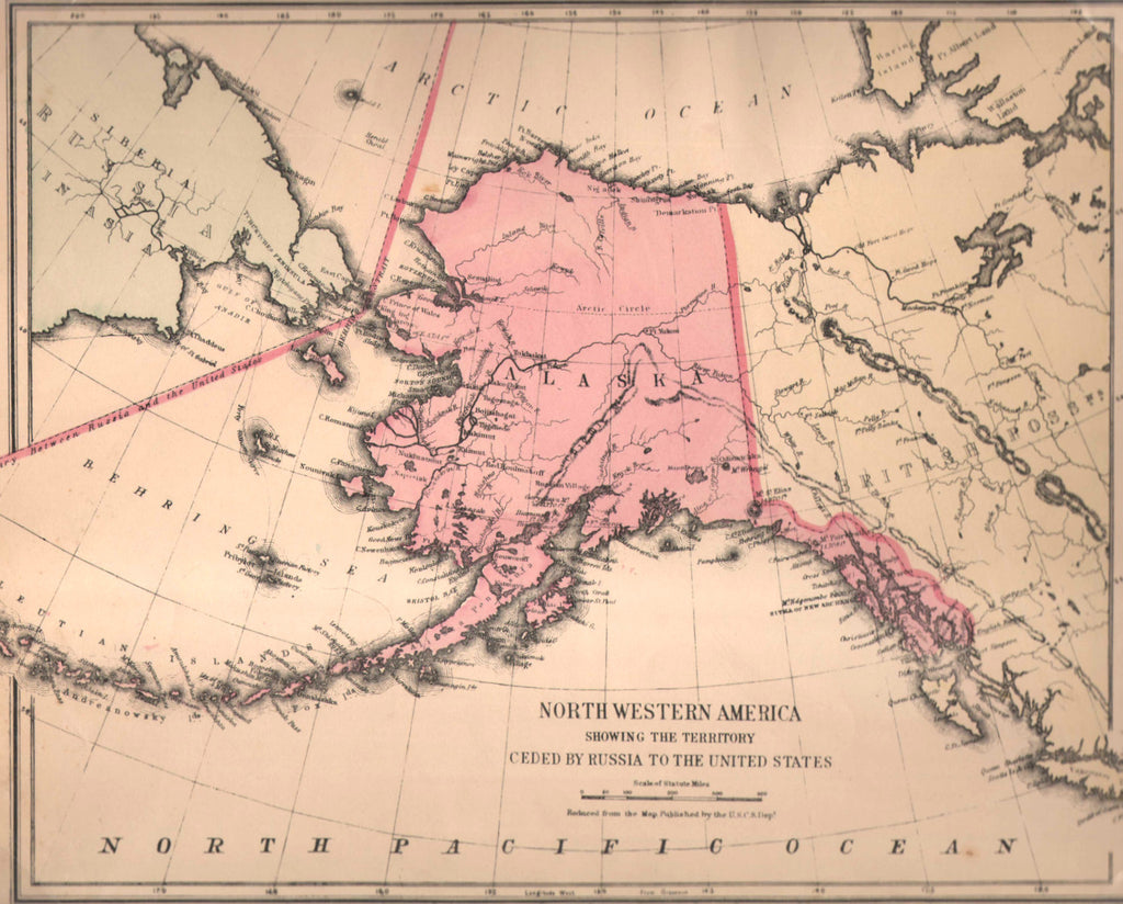 Map of North Western America, 1884, Mitchell