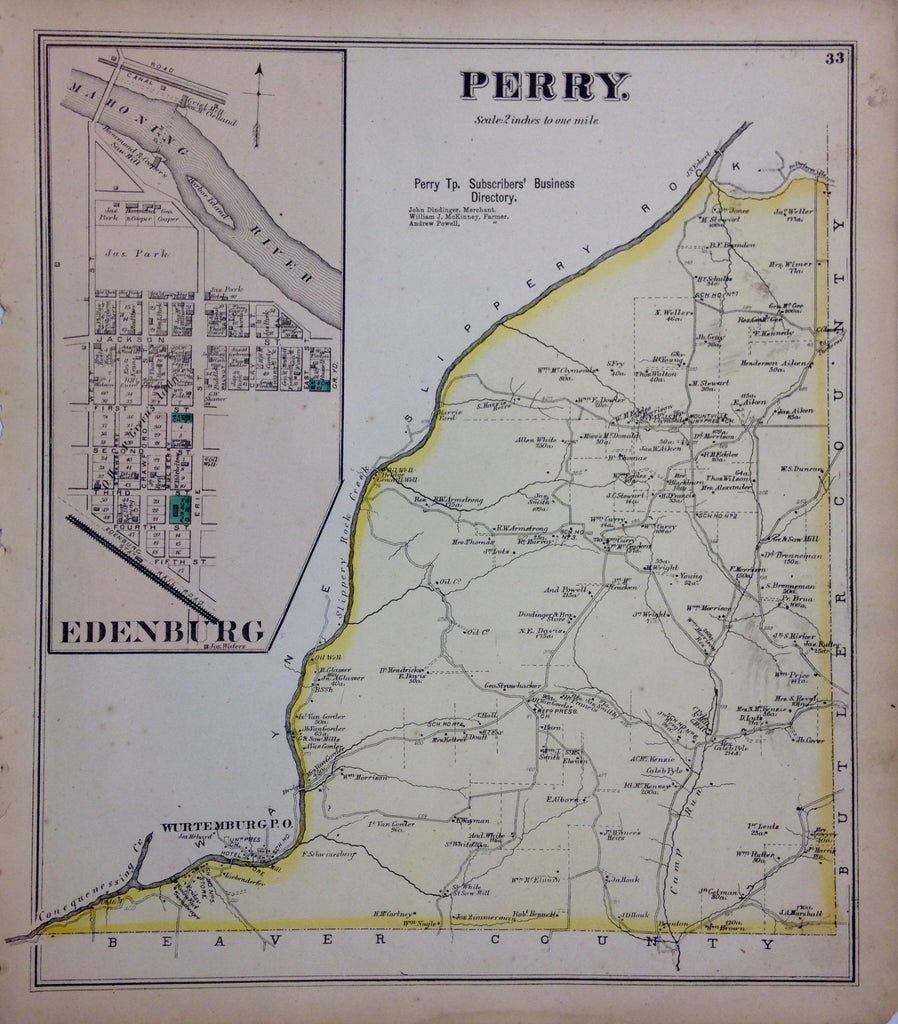Perry Township, 1872, Hopkins