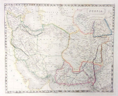 Map of Persia, 1840, Hall