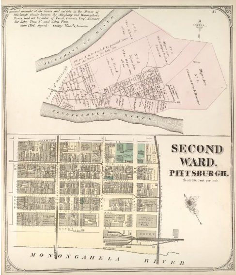Hopkins' Map of Pittsburgh's Second Ward, 1872