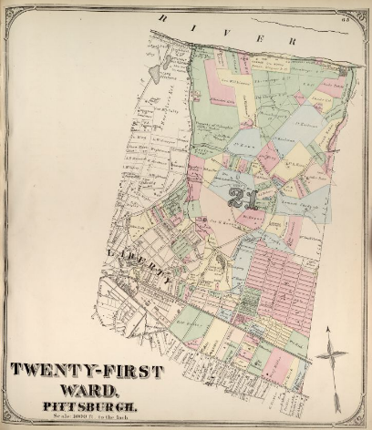 Hopkins' Map of Pittsburgh's Twenty-First Ward, 1872