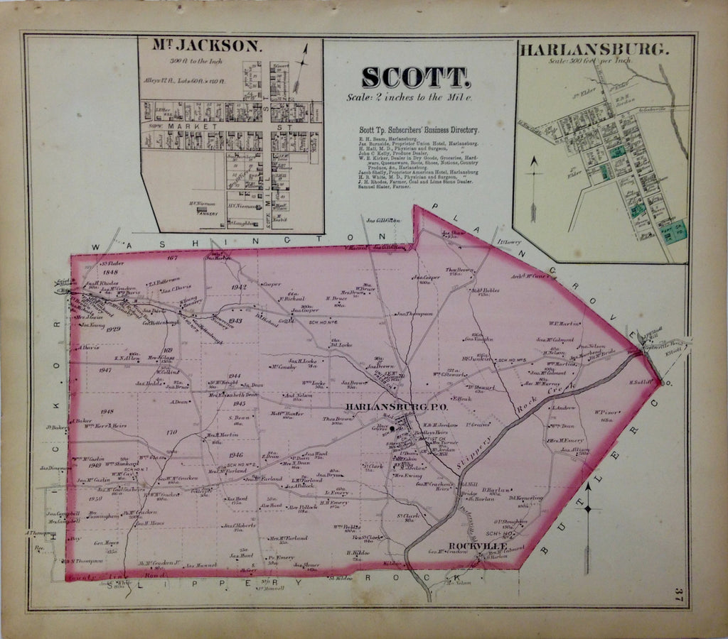 Scott Township, 1872, Hopkins