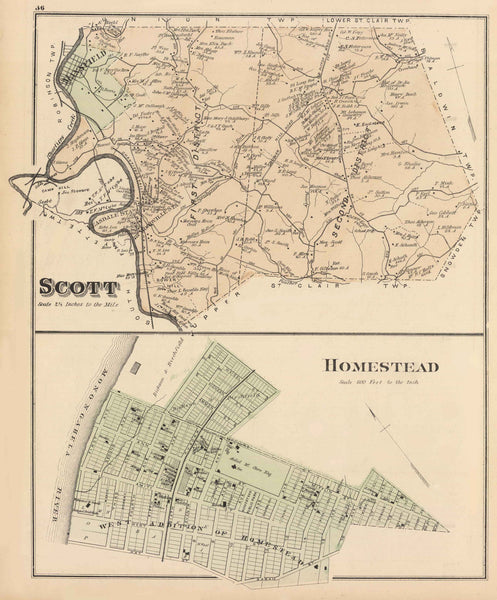 Hopkins' Map of Scott and Snowden,1876