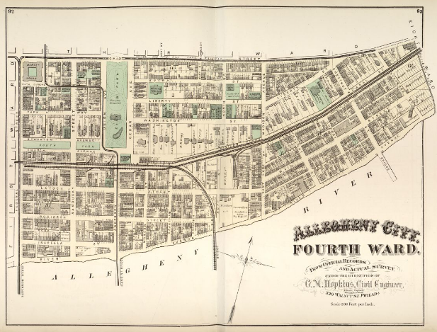 Hopkins' Map of Allegheny City's Fourth Ward, 1872
